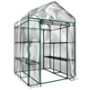 Walk-In Greenhouse- Indoor Outdoor with 8 Sturdy Shelves-Grow Plants, Seedlings, Herbs, or Flowers In Any Season-Gardening Rack by Home-Complete