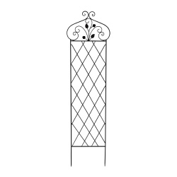 Garden Trellis- For Climbing Plants- 63-Inch Decorative Lattice Metal Panel-For Vines, Roses, Vegetable Plants & Flowers by Pure Garden (Black)