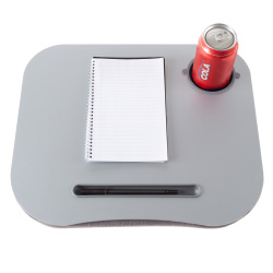 Laptop Buddy Portable Lap Desk- Cushioned Bottom with Foam Beads, Pen Tray and Cup Holder- Tray for Computers, Writing, Reading & Food by Lavish Home