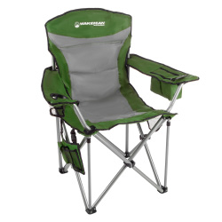 Heavy Duty Camp Chair-850lb High Weight Capacity Big Tall Quad Seat-Cup Holder, Cooler, Carrying Bag-Tailgating, Camping, Fishing by Wakeman Outdoors