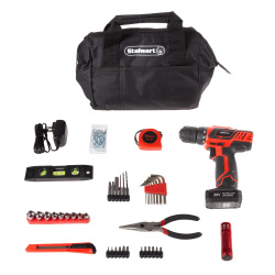 20V Cordless Drill with Rechargeable Lithium Ion Battery and 122 Piece Accessory Set - Portable Power Tool with Bits, Drivers and Bag by Stalwart
