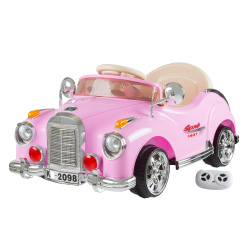 Ride On Toy Car, Battery Powered Classic Car Coupe With Remote Control and Sound by Lil? Rider ? Toys for Boys and Girls, 3 Year Olds And Up (Pink)