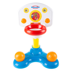 Kids Basketball Hoop- Mini Backboard System with 2 Height Settings, Interactive Sounds & Lights and Two Balls for Baby & Toddlers by Hey! Play!
