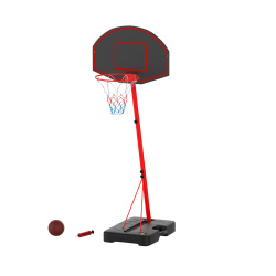 Junior Basketball Hoop- Portable Backboard System with Two Rim Height Settings, 7-Inch Ball and Air Pump for Youth, Kids & Toddlers by Hey! Play!