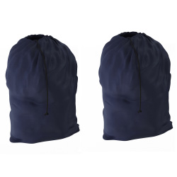 Set of 2 Heavy Duty Jumbo Sized Nylon Laundry Bag