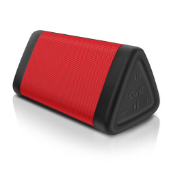 OontZ Angle 3 Enhanced Stereo Edition IPX5 Splashproof Portable Bluetooth Speaker, Volume Boost, Bass Radiator, 100' Range Bluetooth 4.2 (Red)