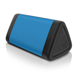 OontZ Angle 3 Enhanced Stereo Edition IPX5 Splashproof Portable Bluetooth Speaker, Volume Boost, Bass Radiator, 100' Range Bluetooth 4.2 (Blue)