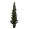 5-Foot-Tall Artificial Cedar Topiary Trees-  Potted Indoor or Outdoor UV Protection Plastic Tree in Pot for Home or Office by Pure Garden