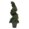 3-Foot-Tall Artificial Cypress Spiral Topiary Tree-  Potted Indoor or Outdoor UV Protection Trees in Pot for Home or Office by Pure Garden