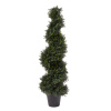 4-Foot-Tall Artificial Cypress Spiral Topiary Tree- Potted Indoor or Outdoor UV Protection Trees in Pot for Home or Office by Pure Garden