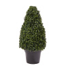 Artificial Boxwood Topiary-36? Tower Style Faux Plant in Sturdy Pot-Decorative, Realistic Indoor or Outdoor Potted Shrub-Home Decor by Pure Garden
