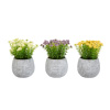 Faux Flowers-3-Piece Assorted Natural Lifelike Floral 6.25