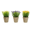Faux Flowers-3-Piece Assorted 6.25