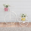 Tricycle Plant Stand ? 2-Tiered Indoor or Outdoor Decorative Vintage Look Display for Patio, Deck, Home or Lawn by Pure Garden (Antique White)