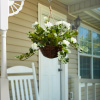 Faux Flowers ? White Geranium Hanging Natural and Lifelike Floral Arrangement with Basket for Home or Office by Pure Garden