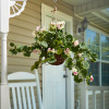 Faux Flowers ? Light Pink Geranium Hanging Natural and Lifelike Floral Arrangement with Basket for Home or Office by Pure Garden
