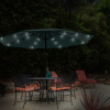 Patio Umbrella ? 10 Foot Deck Shade with Solar Powered LED Lights, Crank Tilt and Fade Resistant, UV Protection Canopy by Pure Garden (Hunter Green)