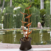 7-Tier Fountain ? Modern Decorative Polyresin and Metal Electric Outdoor Hand Painted Cascading Water Feature with 1 Gallon Capacity by Pure Garden