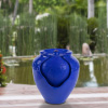 Jar Water Fountain ? Indoor or Outdoor Ceramic-Look Glazed Pot Resin Water Feature with Electric Pump and LED Lights by Pure Garden (Cobalt Blue)