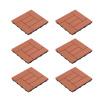 Patio and Deck Tiles ? Interlocking Criss-Cross Pattern Outdoor Flooring Weather and Slip Resistant Square by Pure Garden (Terra Cotta Color 6 Pcs)