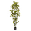 6 Ft. Artificial Bamboo ? Tall Faux Potted Indoor Floor Plant for Home, Restaurant or Office D�cor ? Large and Lifelike by Pure Garden (Green Trunk)