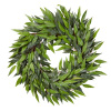 18-Inch Artificial Ficus Microphylla Leaf Wreath ? Indoor Lifelike Round Faux Greenery for Seasonal and Holiday D�cor - Home or Office by Pure Garden