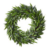 22-Inch Artificial Ficus Microphylla Leaf Wreath ? Indoor Lifelike Round Faux Greenery - Seasonal and Holiday D�cor - Home or Office by Pure Garden
