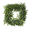 22-Inch Square Artificial Ficus Microphylla Leaf Wreath ? Indoor Lifelike Faux Greenery - Seasonal and Holiday D�cor - Home or Office by Pure Garden