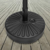 Patio Umbrella Base- 50 Pound Weighted Round Umbrella Holder- Fill with Sand - For Use Outdoors on Decks, Balconies or Poolside by Pure Garden