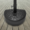 Half Moon Umbrella Base- 34 Pound Weighted Semicircle Stand- Fill with Sand - For Outdoor Use on Patios, Balconies or Decks by Pure Garden