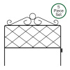 Metal Garden Fencing- Set of 5 Panels for Decorative Edging Flower Beds & Landscaping- Interlocking, Flexible, Azalea Design in Black by Pure Garden