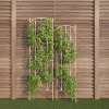 Garden Trellis- For Climbing Plants-Set of 2- Metal Panels with Decorative Scrolls-For Vines, Roses, Vegetable Plants & Flowers by Pure Garden (White)