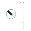 Shepherd?s Hook- Metal Pole with Dual Stakes for Hanging Baskets, Bird Feeders & Lanterns-65? Tall- For Flower Gardens, Lawns & Patios by Pure Garden