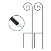 Shepherd Hooks-Set of 2-Metal Pole with Hooks for Hanging Baskets, Bird Feeders & Lanterns-35? Tall- For Flower Gardens, Lawns & Patios by Pure Garden