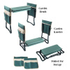 Gardening Kneeling Bench- Foldable Foam Pad Stool for Kneelers- 2 Tool Pouches & Handles- Comfort & Protection for Planting & Weeding by Pure Garden
