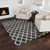 Lattice Area Rug- 5x7 Plush Throw Carpet- Mid-Century Modern Design-Moroccan Trellis- Gray & Ivory Floor Covering for Home or Office by Lavish Home
