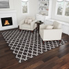 Lattice Area Rug- 8X10 Plush Throw Carpet- Mid-Century Modern Design-Moroccan Trellis- Gray & Ivory Floor Covering for Home or Office by Lavish Home
