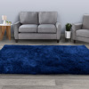 Shag Area Rug- 5x7 Plush Navy Blue Throw Carpet- Cozy Modern Design-Solid Color Floor Covering for Home, Living Room, Bedroom & Office by Lavish Home