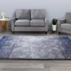 Shag Area Rug-5x7 Plush Ombre Throw Carpet-Cozy Modern Design- Blended Blue Color from Light to Dark Floor Covering for Home & Office by Lavish Home