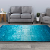 Shag Area Rug- 5x7 Plush Ombre Throw Carpet- Cozy Modern Design- Blended Turquoise Colors-Floor Covering for Home, Living Room & Office by Lavish Home