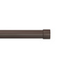 1-Inch Curtain Rod- Decorative End Cap Style Finials & Hardware- For Home Decor in Bedroom, Living Room & Kitchen, 66-120-Inch by Lavish Home (Bronze)