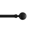 3/4-Inch Curtain Rod- Decorative Ball Finials & Hardware- For Home Decor in Bedroom, Living Room & Kitchen, 48-84-Inch by Lavish Home (Black)