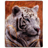 8 Lb Throw Blanket ? Oversized Woven Plush Sofa or Soft Comfort Bed D�cor - Printed Wildlife Design for Kids and Adults by Lavish Home (White Tiger)