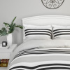 Comforter and Shams Set ? ?Seaside Dawn? Reversible, Hypoallergenic Microfiber Striped Down Alternative Bedding by Yorkshire Home (Full/Queen)