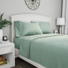 Brushed Microfiber Sheet Set- 3 Piece Bed Linens- Fitted & Flat Sheets, 1 Pillowcase-Wrinkle, Stain & Fade Resistant by Lavish Home (Twin, Sage Green)