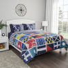 Quilt Bedspread Set with Exclusive Mariner Design- 2 Piece Twin XL Set With Pillow Sham, Nautical Coastal Theme, Reversible, Hypoallergenic By LHC