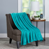 Velvet Throw ? Oversized Microfiber Velvet Solid Polyester Throw Blanket ? Breathable and Machine Washable by LHC (Lagoon Green)