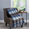 Soft Throw Blanket - Oversized, Luxuriously Fluffy, Vintage-Look and Cashmere-Like Woven Acrylic - Breathable and Stylish Throws by LHC (Allure Plaid)