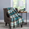 Acrylic Throw ? Oversized Vintage Look Woven Acrylic Faux Cashmere-Feel Plaid Throw ? Breathable and Machine Washable by LHC (Bristol Plaid)
