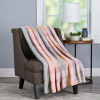 Blanket Throw ? Oversized Plush Woven Polyester Sherpa Fleece Plaid Throw ? Breathable and Machine Washable by LHC (Modern Blush)